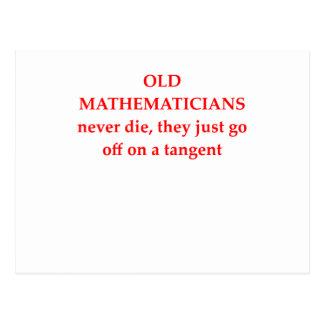 funny math joke post cards