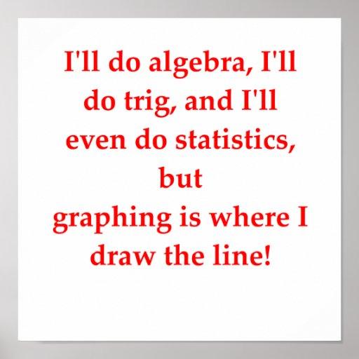 funny math joke poster...