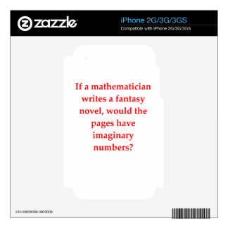 funny math joke skins for iPhone 2G