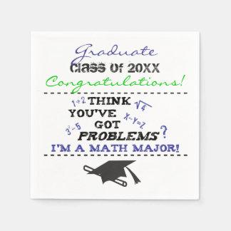 Funny Math Major Graduation Custom Napkin