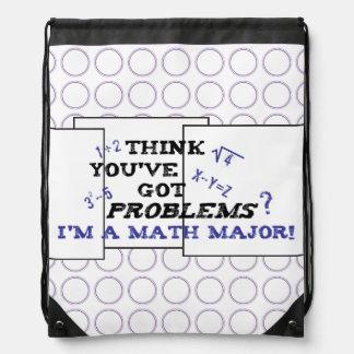 funny math major drawstring bag
