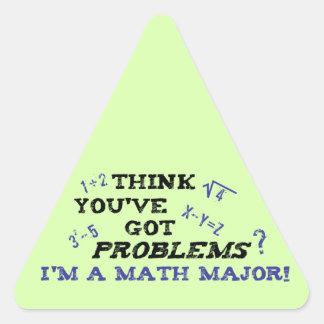 funny math major triangle sticker