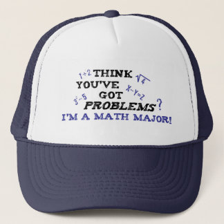 funny math major trucker hat