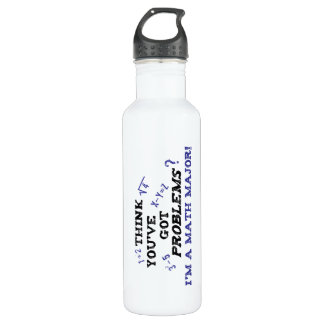 funny math major water bottle