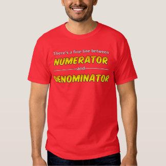 Funny Math Numerator and Denominator T-Shirt