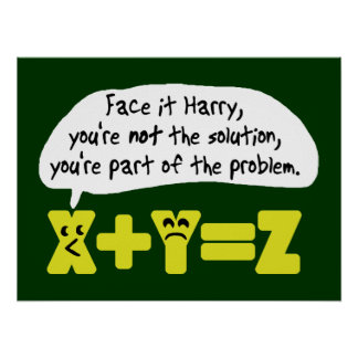 Funny Math Problem Poster