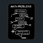 "Funny Math Problems Magnet<br><div class=""desc"">A funny and sarcastic math problems magnet.</div>"
