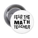 Funny Math Teacher Buttons