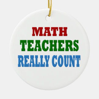 Funny Math Teacher Ceramic Ornament