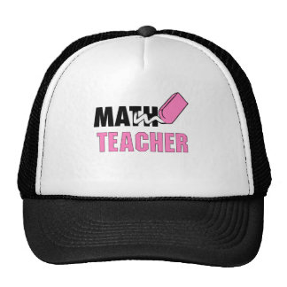 Funny Math Teacher Pink Eraser Trucker Hat