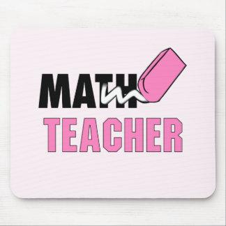 Funny Math Teacher Pink Eraser Mouse Pad
