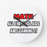 Funny Math Teacher Shirts and Gifts Wall Clock