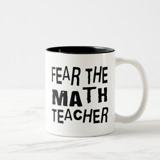 Funny Math Teacher Two-Tone Coffee Mug