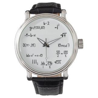 Funny Math Wiz (pop quiz) Watches