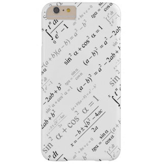 Funny Mathematics Formulas Math Geek Barely There iPhone 6 Plus Case