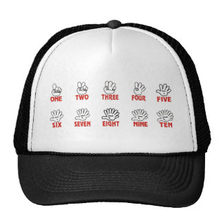 Funny maths: Counting on hands and fingers Trucker Hat