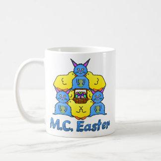 Funny MC Easter Bunnies Chicks Tessellation Coffee Mug