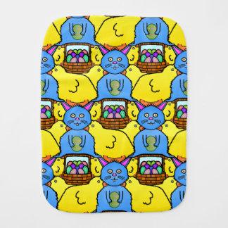 Funny MC Easter Bunny Chicks Tessellation Pattern Burp Cloth