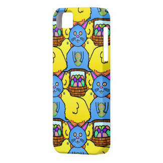 Funny MC Easter Bunny Chicks Tessellation Pattern iPhone 5 Covers