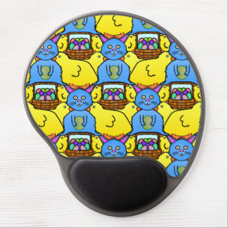 Funny MC Easter Bunny Chicks Tessellation Pattern Gel Mouse Pads