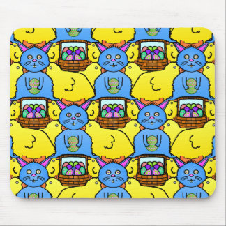 Funny MC Easter Bunny Chicks Tessellation Pattern Mouse Pad