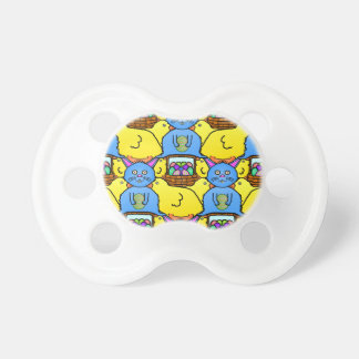 Funny MC Easter Bunny Chicks Tessellation Pattern Pacifier
