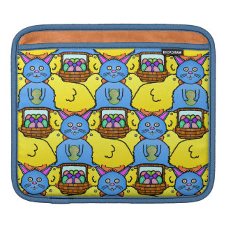 Funny MC Easter Bunny Chicks Tessellation Pattern Sleeve For iPads