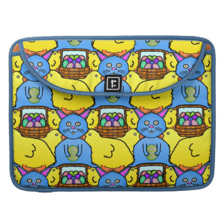 Funny MC Easter Bunny Chicks Tessellation Pattern Sleeve For MacBooks