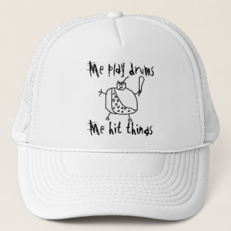 "Funny ""Me Play Drums"" Drummer Hat"