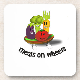Funny Meals on Wheels Beverage Coaster