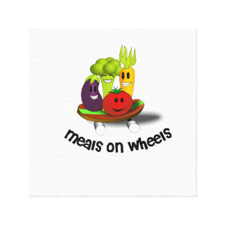 Funny Meals on Wheels Canvas Print
