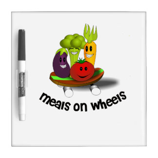 Funny Meals on Wheels Dry-Erase Board