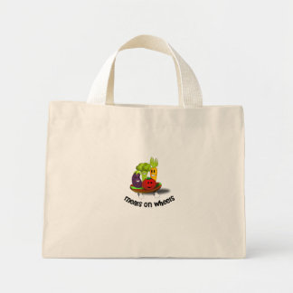 Funny Meals on Wheels Mini Tote Bag