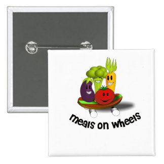 Funny Meals on Wheels Pinback Button