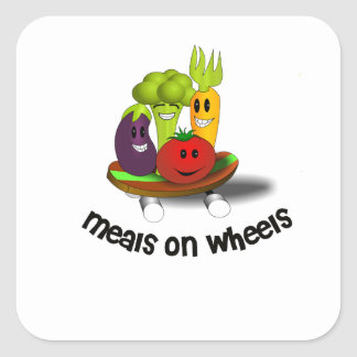 Funny Meals on Wheels Square Sticker