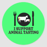 Funny meat eating sticker