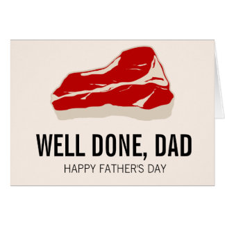 Funny Meat Father Day Card