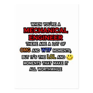 Funny Mechanical Engineer ... OMG WTF LOL Postcard