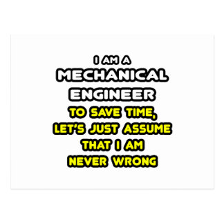 Funny Mechanical Engineer T-Shirts and Gifts Postcard