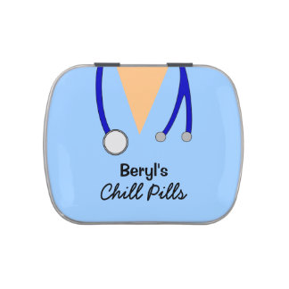 Funny Medical  Scrubs Chill Pills Custom Candy Tin