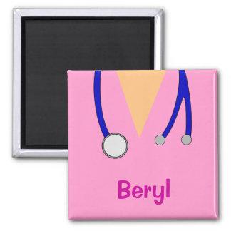 Funny Medical Scrubs Whimsical Personalised Fridge Magnet
