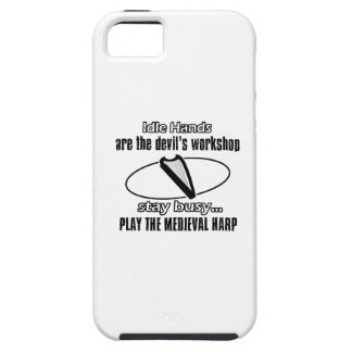 Funny medieval harp designs iPhone 5 cover
