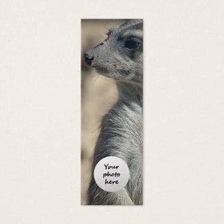 Funny Meerkat Custom Bookmark Mini Business Card