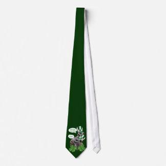 Funny meerkat St Patrick's day Neck Tie