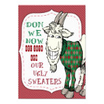 FUNNY MEH Goat in his UGLY Sweater Christmas Party 5x7 Paper Invitation Card