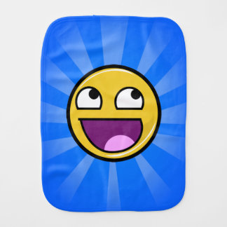 """Funny Meme """"Awesome Face"""" Baby Burp Cloth"""