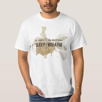 Funny Men Humor Multitask Sleep Breathe T-Shirt