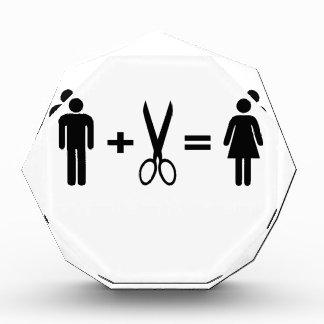 Funny men scissors woman award
