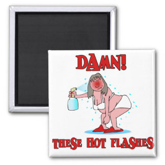 Funny Menopause 2 Inch Square Magnet