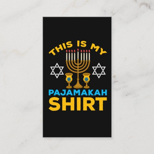 Funny Menorah Jewish Hanukkah Pajama Business Card